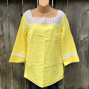 Lilly Pulitzer Sz 8 Bees Knees Yellow Tunic Top